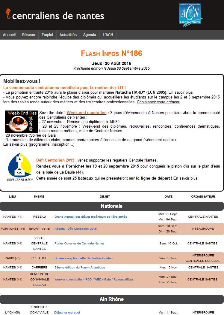 Flash Infos 186