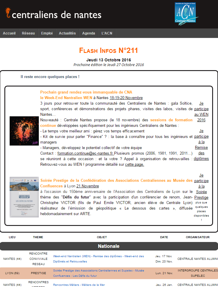 Flash Infos 211